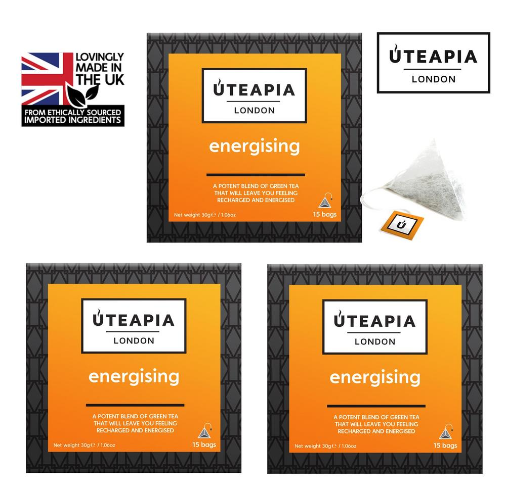 UTEAPIA LONDON ENERGISING - A Potent Tea to Revitalise You - 45 Tea Temples
