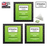 UTEAPIA LONDON Morrocan Mint Refreshing Green Tea & Peppermint - 45 Tea Temples