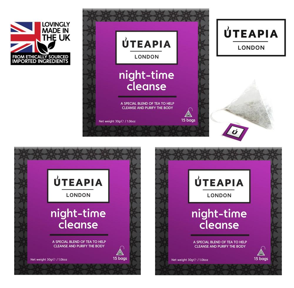 UTEAPIA LONDON Night Time Cleanse Blended Purifying Tea - 45 Tea Temples