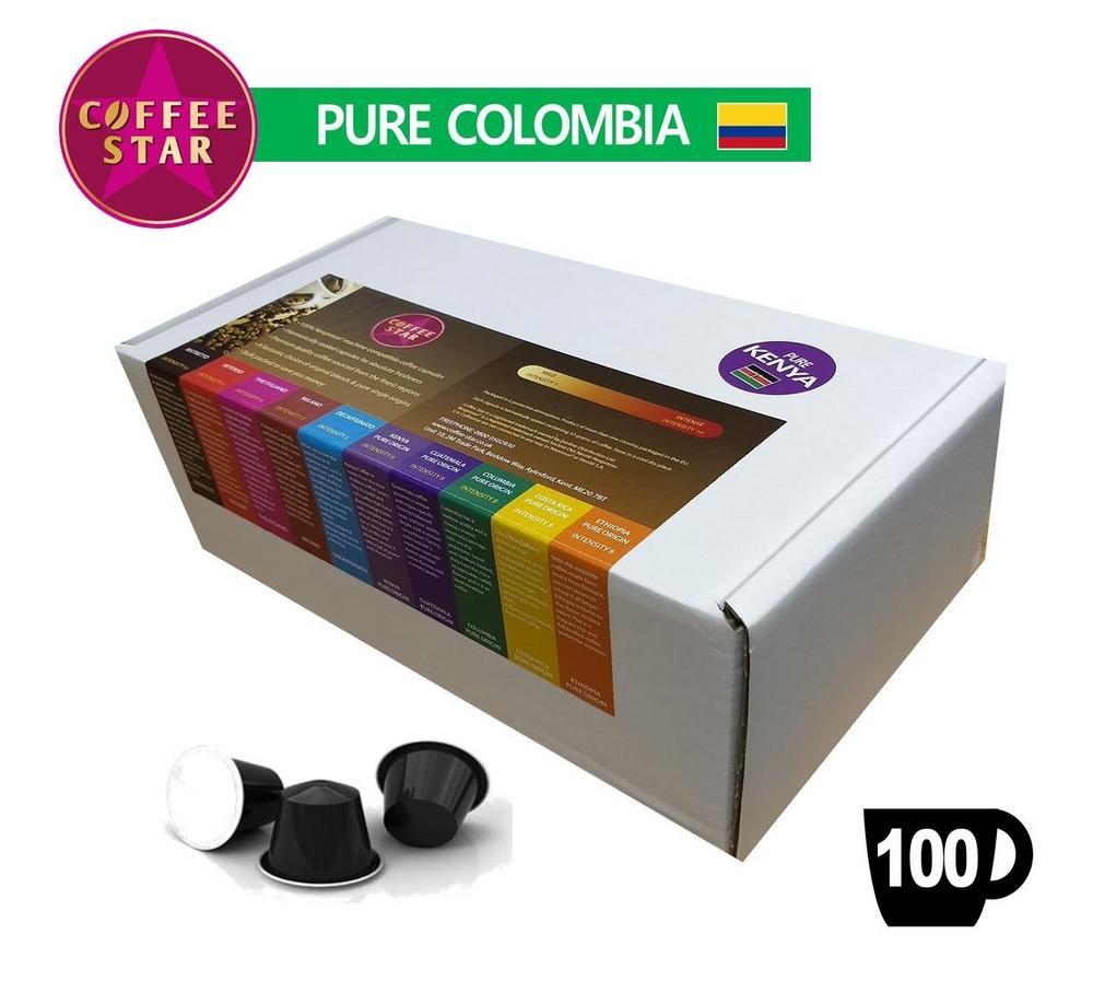 100 Coffeestar Colombia Single Origin Nespresso compatible capsules