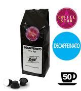 50 Coffeestar Espresso Decaffeinato Nespresso compatible capsules