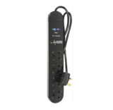 4 Way 2M Surge Protector Mains Extension Lead with 2 x USB Ports