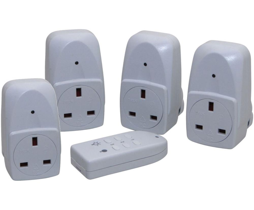 Wireless Remote Control Electrical Sockets 2 Pack UK Plug 25 Metre Range