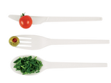 Vegware Compostable RCPLA Forks - White Pack of 50