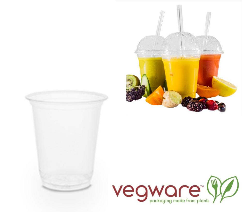 Vegware Compostable 9oz Cold Cup made From Plant based PLA - Pack of 100
