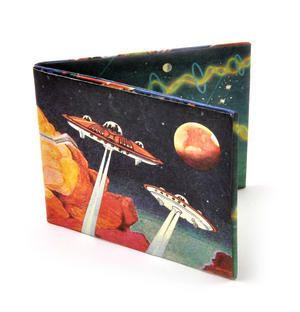 Retro, funny and bold wallets for men.