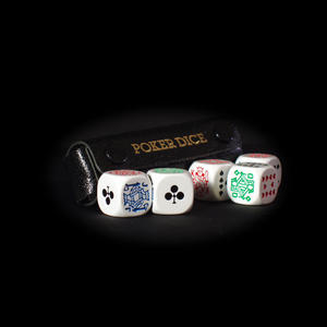Poker Dice / Liar Dice - Deluxe In Leather Case Thumbnail 2