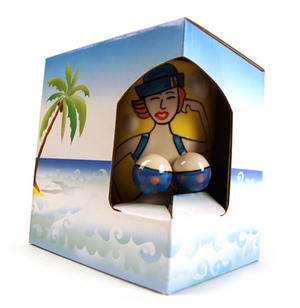 Beautiful Boobs Babe 3D Mug Beach Bather Thumbnail 5