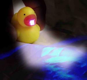 Cute Duck Light Up Keychain With Sound Fx Thumbnail 2