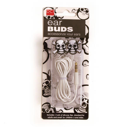 Ear Buds - Skull And Crossbones