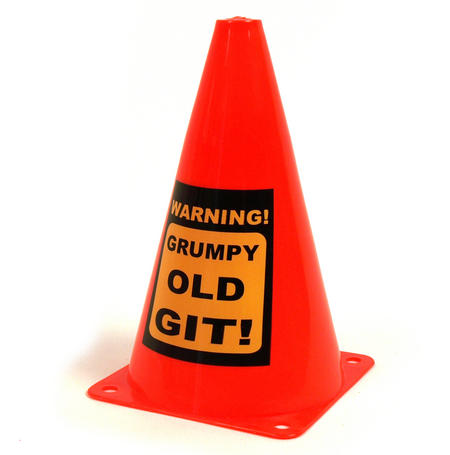 Grumpy Old Git Traffic Cone