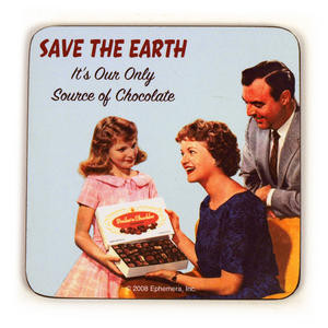 Cool Coaster Save The Earth, Our Source Of Chocolate Thumbnail 1