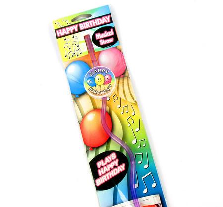 Musical Happy Birthday Straw