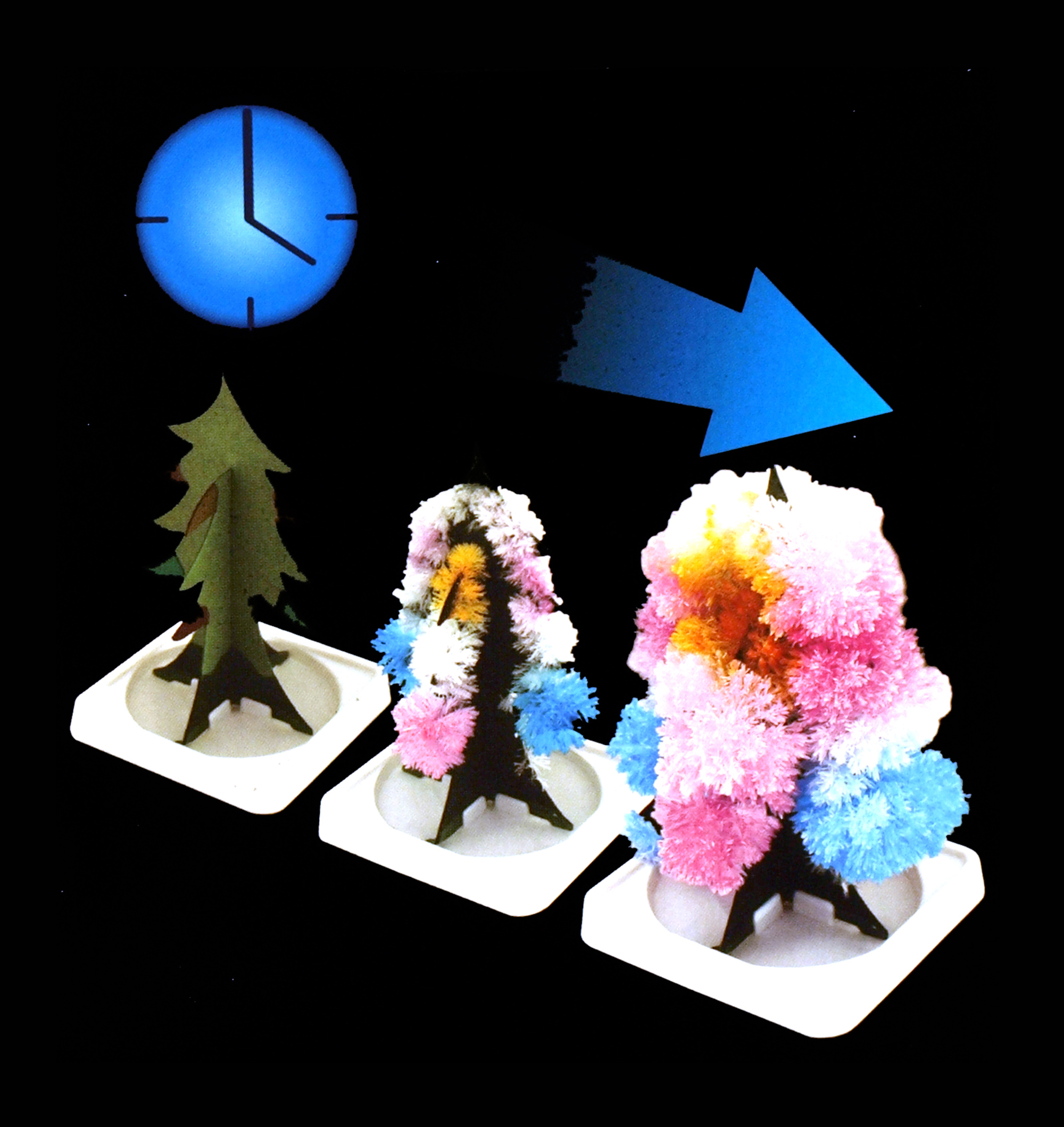 magic tree zarte kristall blumen wachsen ebay. Black Bedroom Furniture Sets. Home Design Ideas