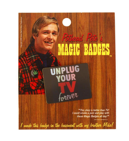 Magic Changing Badge - Unplug Your Tv Forever / Test Card