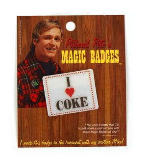 Magic Changing Badge - I Love Coke / I Love Cake Thumbnail 1
