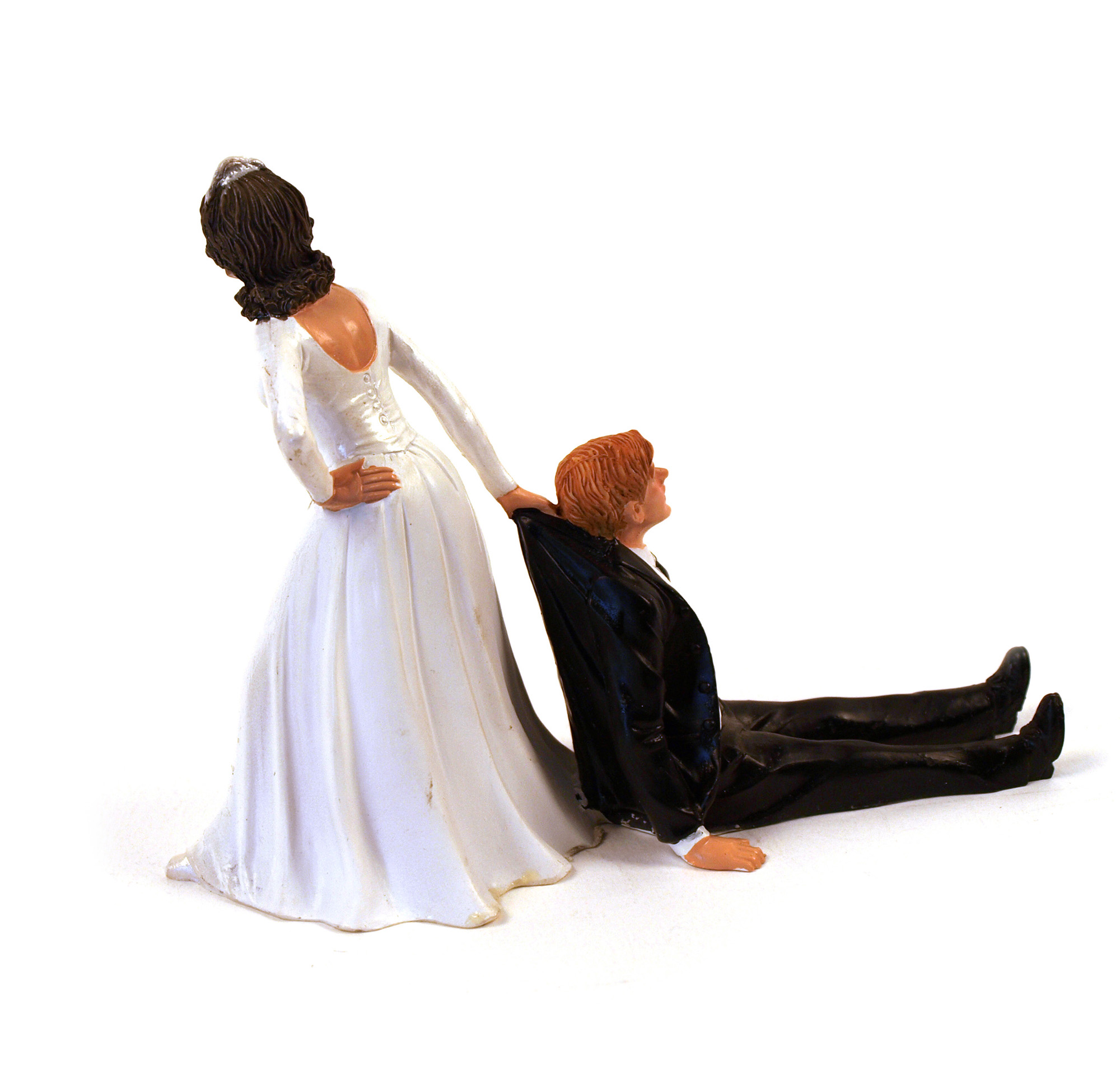 Reluctant Bride Wedding Cake Topper