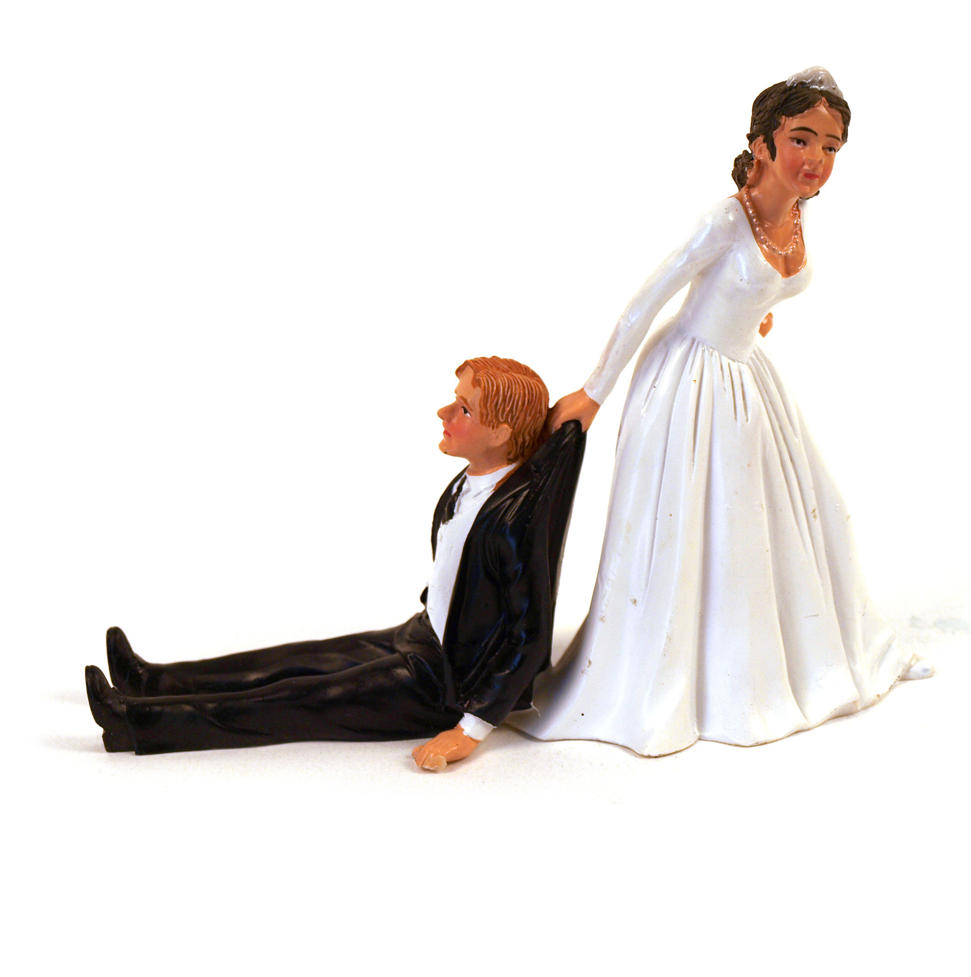 RELUCTANT GROOM CAKE TOPPER WEDDING BRIDE NEW FUNNY BRIDAL