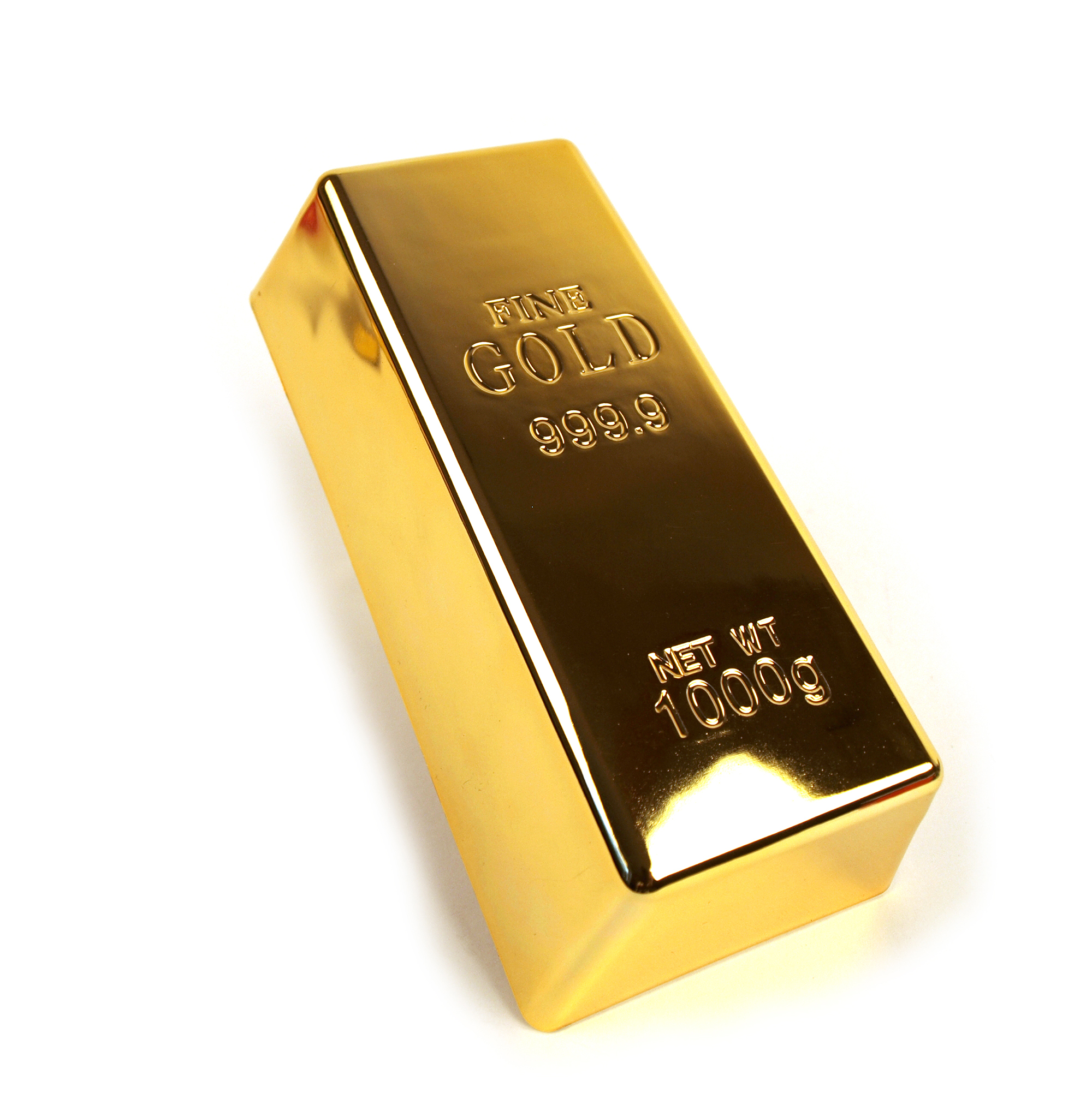 Gold Bar Paperweight Or Doorstop 1kg Bullion Bar Pink