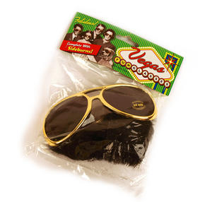 Vegas Fun Glasses And Sideburns Kit - Elvis Style Thumbnail 1