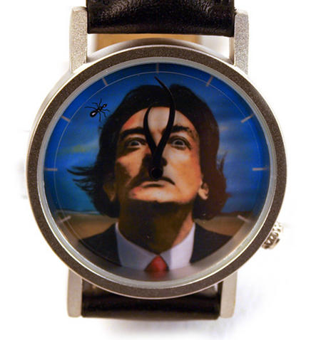 The Salvador Dali Watch - The Surreal  Wristwatch With Moustache Hands.