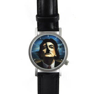 The Salvador Dali Watch - The Surreal  Wristwatch With Moustache Hands. Thumbnail 4