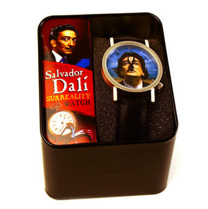 The Salvador Dali Watch - The Surreal  Wristwatch With Moustache Hands. Thumbnail 2
