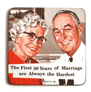 Cool Coaster - The First 50 Years Of Marriage Thumbnail 1