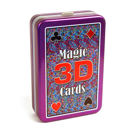 Magic 3D 'see Through' Trick  Playing Cards