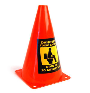 Caution Cone Danger Toxic Gases Thumbnail 1