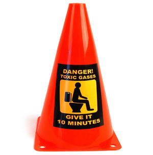 Caution Cone Danger Toxic Gases Thumbnail 3
