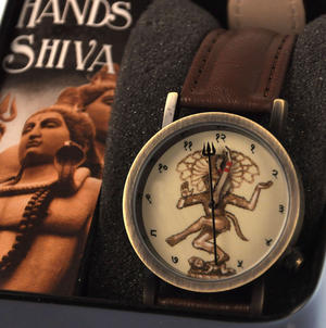 The Shiva Watch - The Wristwatch For The Enlightened, Hindus And India-Lovers. Thumbnail 1