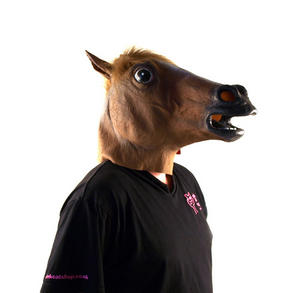 Horse Head - Lifesize Head Mask Thumbnail 2