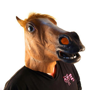 Horse Head - Lifesize Head Mask Thumbnail 3