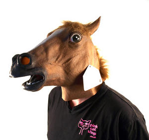Horse Head - Lifesize Head Mask Thumbnail 4