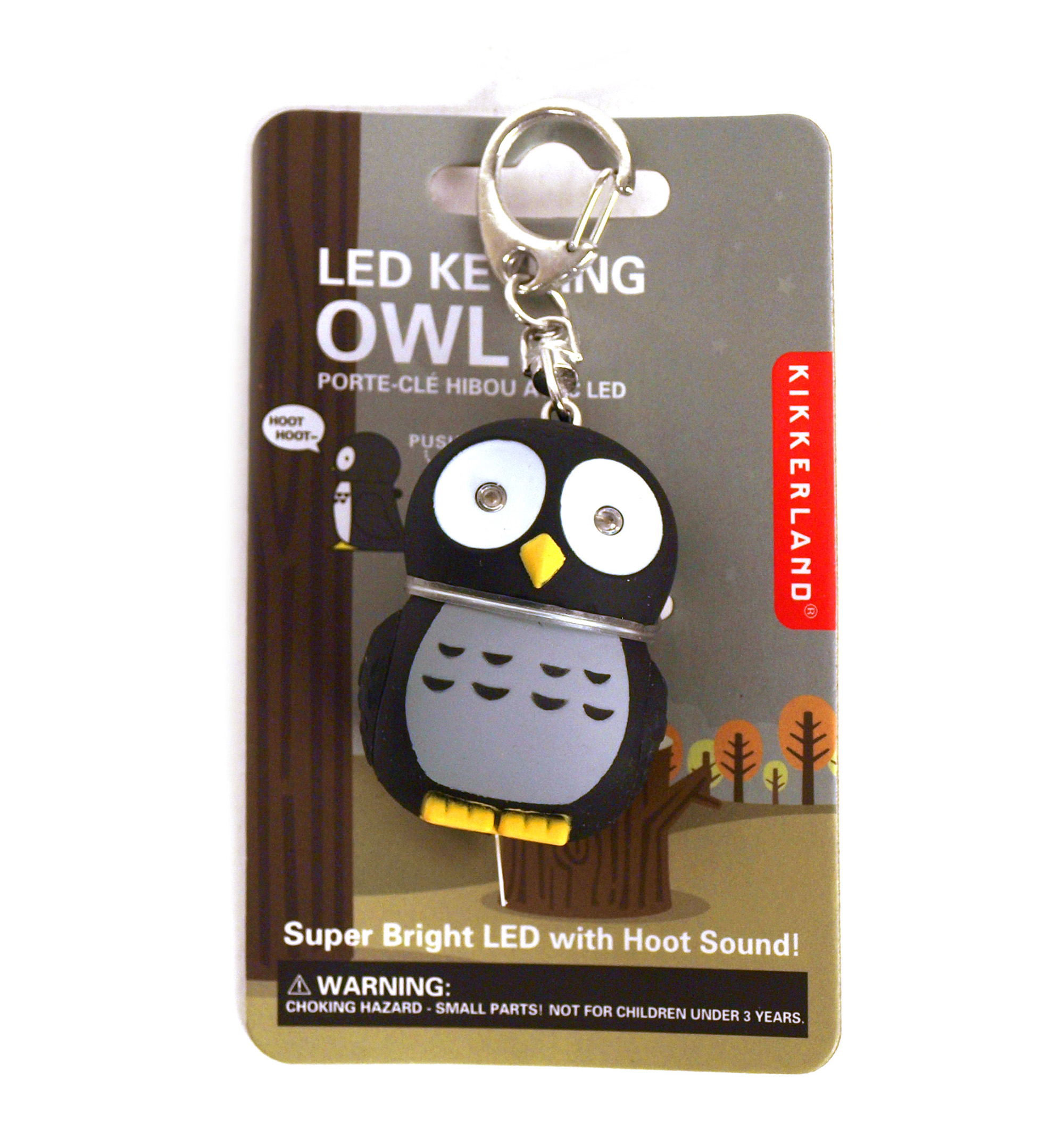 Owl - light up keychain with sound FX 612615046870  6bf5963e7