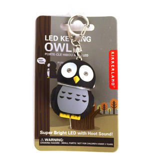 Owl - Light Up Keychain With Sound Fx Thumbnail 1
