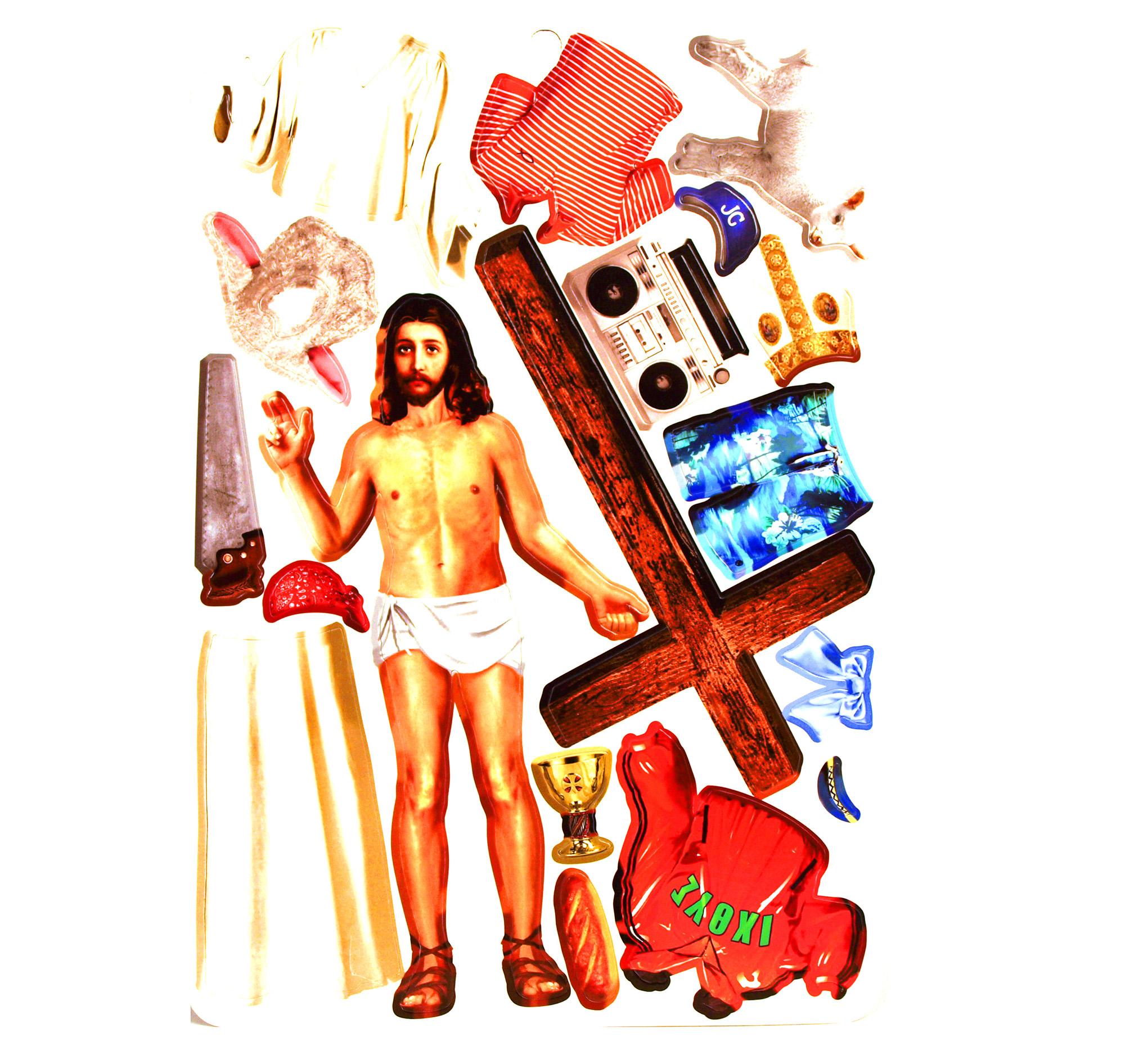 What Would Jesus Wear Fridge Magnet Set Pink Cat Shop