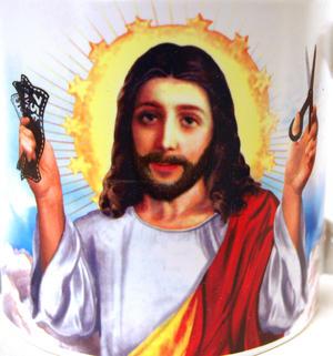 Jesus Shaves Mug Thumbnail 2