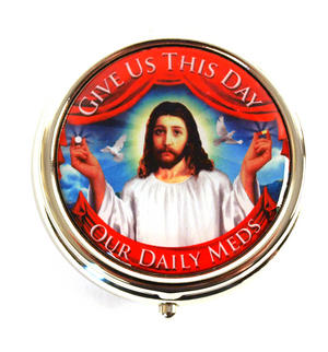 Jesus Pill Box - Give Us This Day Our Daily Meds Thumbnail 1