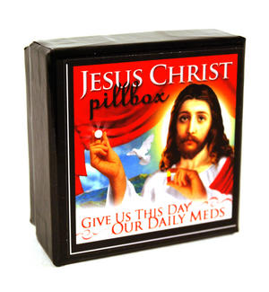 Jesus Pill Box - Give Us This Day Our Daily Meds Thumbnail 3