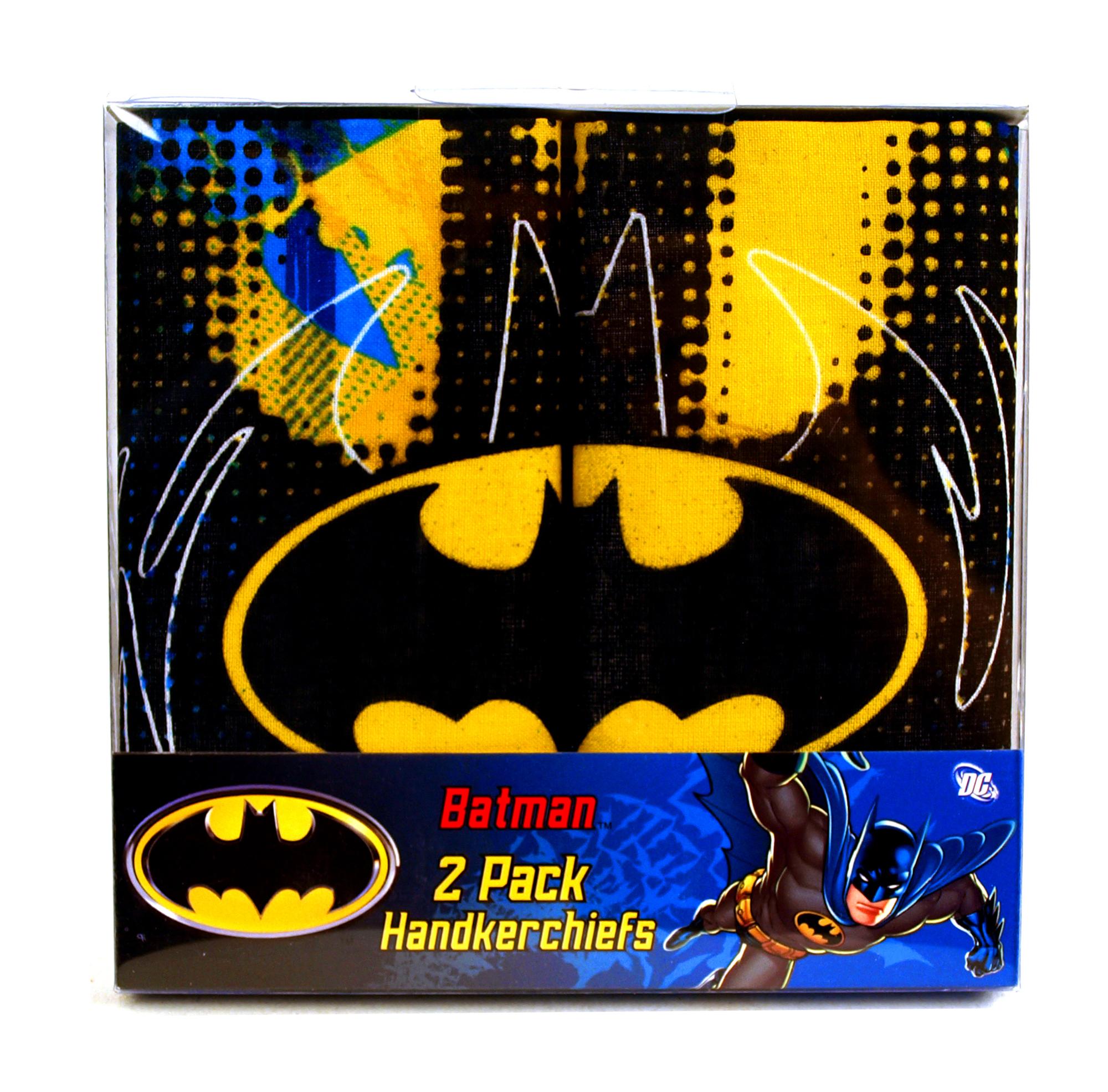 Batman - Classic Logo - 2 Pack Handkerchiefs Thumbnail 1 854dab18a3cd6