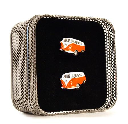 Cufflinks - Camper Van - Swinging Sixties (Assorted Colours)