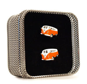 Cufflinks - Camper Van - Swinging Sixties (Assorted Colours) Thumbnail 1