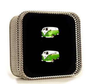 Cufflinks - Camper Van - Swinging Sixties (Assorted Colours) Thumbnail 3