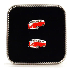 Cufflinks - Camper Van - Swinging Sixties (Assorted Colours) Thumbnail 4