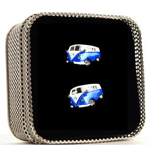 Cufflinks - Camper Van - Swinging Sixties (Assorted Colours) Thumbnail 5