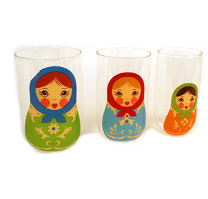 Babushkups - Matryoshka Nesting Glasses Set Thumbnail 2
