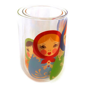 Babushkups - Matryoshka Nesting Glasses Set Thumbnail 4