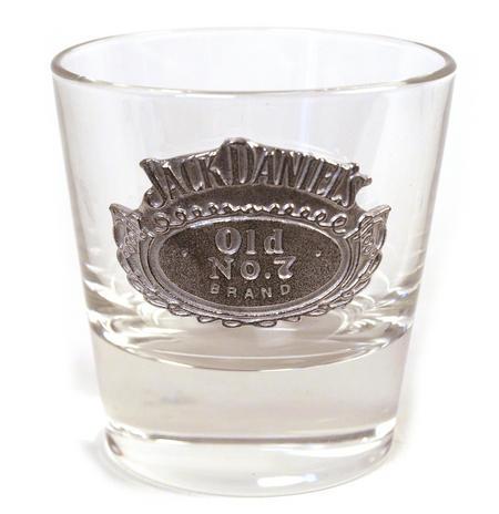 Jack Daniels Bourbon Mixer Glass - Round